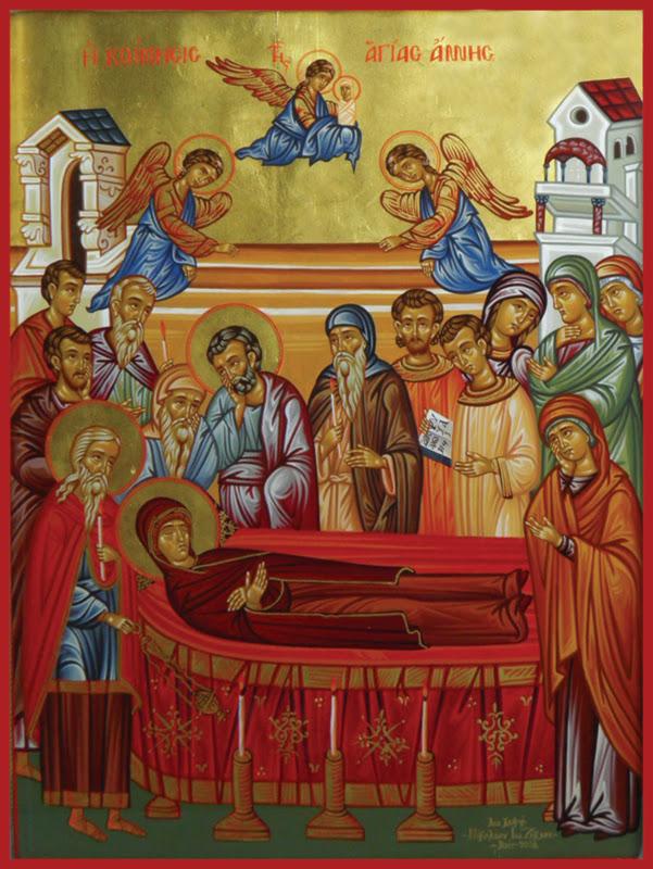 Η Κοίμηση της Αγίας Άννης – Θεμελίωση κωδωνοστασίου στην Άνω Γατζέα