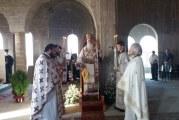 Στο υπό ανέγερσιν νέο Καθολικό η Θεία Λειτουργία στην Ιερά Μονή Συκής