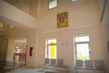 Η Εικόνα της Πλατυτέρας των Ουρανών δεσπόζει στην είσοδο του Νοσοκομείου Βόλου