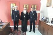 Επίσκεψη του Υποστρατήγου Ιωάννου Τόλια και του νέου Αστυνομικού Δ/ντή στον Σεβασμιώτατο