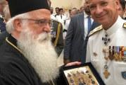 Στην τελετή παράδοσης και παραλαβής της ηγεσίας του Λιμενικού Σώματος ο Σεβασμιώτατος