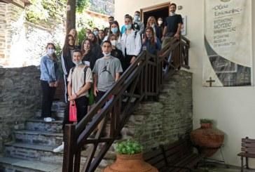 Επίσκεψη μαθητών του 4ου Λυκείου Βόλου, στο Μουσείο Βυζαντινής Τέχνης και Πολιτισμού Μακρινίτσας (φωτο)