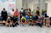 Η Ομάδα Κωπηλασίας «Δημητριάς» στον Σεβασμιώτατο